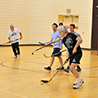 PHOTO: Professors playing hockey